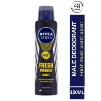 Nivea Men Fresh Power Boost Deodorant, 150ml- Amazon