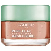 L'Oreal Paris Pure Clay Mask, Exfoliate & Refine Pores, 48g- Amazon