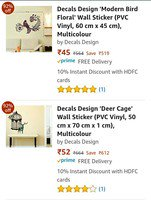 LOOT:- Min 90% Off On Wall Decals Start @45
