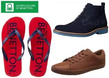 Get Minimum 50% Off On United Colors Of Benetton  Footwears Collection