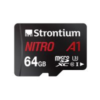 Strontium Nitro A1 64GB Micro SDXC Memory Card 100MB/s A1 UHS-I U3 Class 10 with High Speed Adapter- Amazon