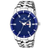 [LD] Armado Day and Date Analogue Blue Dial Men's Watch(AR-205-BLU)- Amazon
