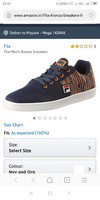fila shoes at 80% off