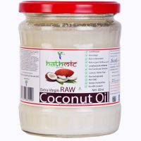 [LD] Hathmic Raw Extra Virgin Cold Pressed Coconut Oil, 500ml- Amazon