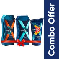 [LD] Set Wet Studio X Brightening Face Wash, 100 ml with Cooling and Style Shampoo, 180ml and Refresh Body Wash, 180ml- Amazon