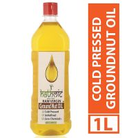 [LD] Hathmic Raw Cold Pressed Virgin Groundnut Oil, 1000 ml (Wood Pressed)- Amazon