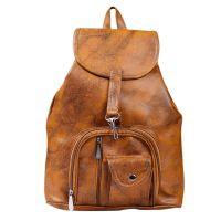 K KAPARROW Women's Brown Synthetic Shoulder Backpack- Amazon