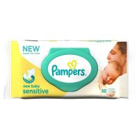 Pampers New Baby Sensitive Baby Wipes (50 Wipes)- Amazon