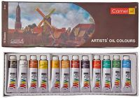 Camlin Kokuyo Artist's Oil Color Box - 9ml tubes, 12 Shades- Amazon