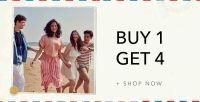 Buy 1 Get 4 on Myntra- Myntra