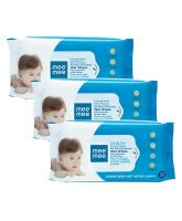 Mee Mee Caring Baby Wet Wipes with Lemon Fragrance (72 pcs/pack) (Pack of 3)- Amazon