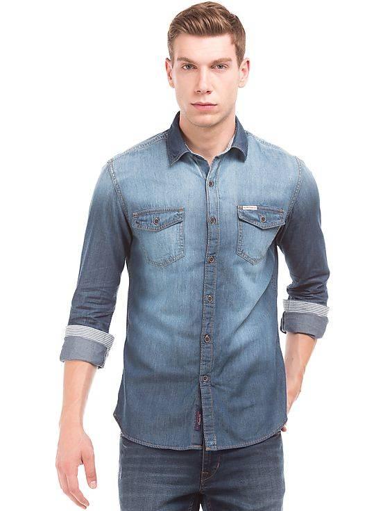 U.S. Polo Assn. Denim Co. Slim Fit Washed Denim Shirt- nnnow