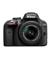 Nikon D3300 with (AF-S 18-55mm VR Lens) DSLR Camera Black