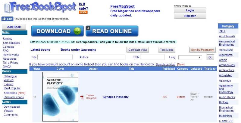 FreeBookSpot Proxy - 30 Proxy Websites to Unblock FreeBookSpot.es Download Link