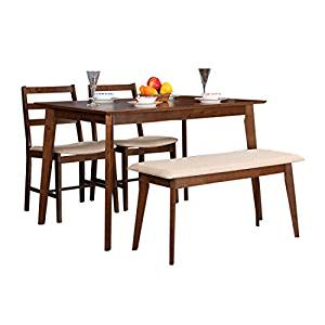 Hometown Zina 4 Seater Dining Table Set with Bench Rs.9990 - Amazon