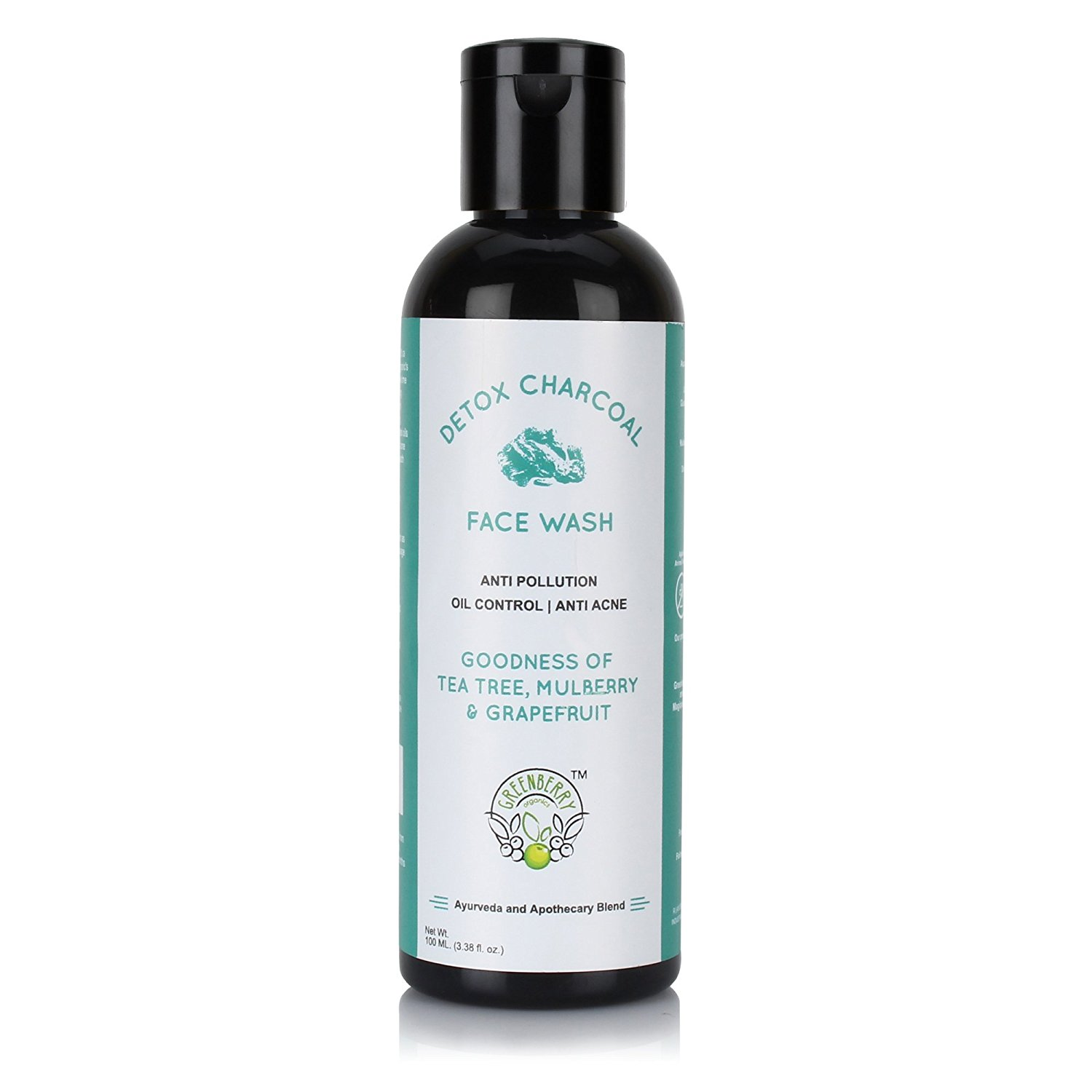 Greenberry Organics Detox Charcoal Face Wash Rs. 195 - Amazon
