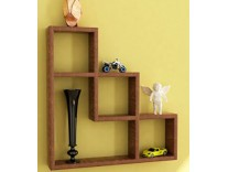 Home Sparkle Wooden L-Shaped Wall Rack Rs. 899 - Amazon