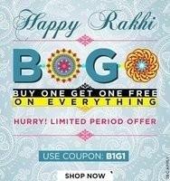 Buy 1 Get 1 Free on Clothing, Footwear & Accessories
