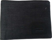 Levi's Men Black Genuine Leather Wallet (8 Card Slots)