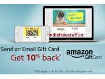 Amazon Email Gift Cards 10% Cashback [First Gift Card purchase]