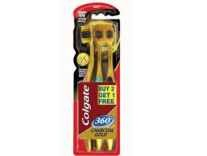 Colgate Toothbrush-360 Degree Charcoal Gold-Soft Bristles Pack of 3 Rs. 133 - Amazon