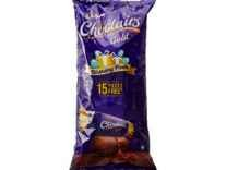 Cadbury Choclairs Gold Birthday Pack, 655.5g (Pack of 100 with Free 15 Pieces) Rs. 147 - Amazon
