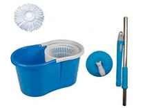 GTC Easy Magic Floor Mop 360° Bucket 1 Heads Microfiber Spin Spinning Rotating Head Rs.549 - Amazon