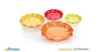 Nayasa Floret 4 Piece Plastic Bowl Set, Multicolour