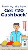Flat Rs 20 cashback on completing first 2 Scan & Pay transactions   6-30 Sep