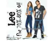 Lee Clothing min 70% off from Rs. 509 @ Amazon