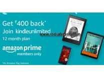 Kindle Unlimited 12 Months + Rs. 500 Cashback Rs. 1499