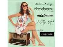 Dressberry Women Clothing Minimum 70% off from Rs. 132 @ Flipkart