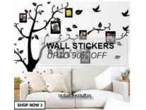 Wall Stickers Sale upto 89% off from Rs. 66- Amazon