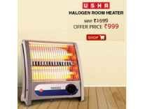 Usha 3002-QH Halogen Room Heater Rs. 1151- Amazon
