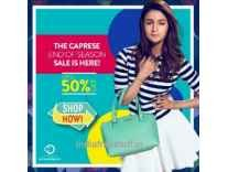 Caprese Bags Minimum 50% to 77% off from Rs. 872 @ Amazon