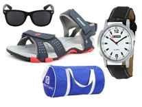 Lotto Combo (Sandal + Watch + Sunglass + Gym Bag) Rs. 699 - Amazon