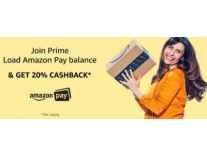 Join Amazon Prime Get 20% Cashback on Load Money to Amazon Pay Balance