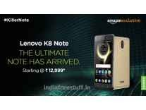 Lenovo K8 Note 32GB Rs.10999 or 64GB Rs. 11999 @ Amazon
