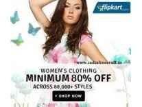 Women's Clothing & Footwear Minimum 80% off from Rs. 118 @ Flipkart