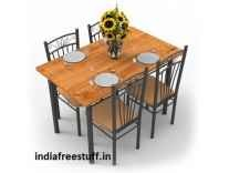 Forzza Hunter Four Seater Dining Table Set Rs. 6499 - Amazon