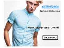Men's Clothing Minimum 60% off from Rs. 142- Flipkart