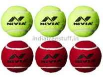 Nivia Heavy Weight Rubber Tennis Ball Pack of 3 Rs. 176 - Amazon