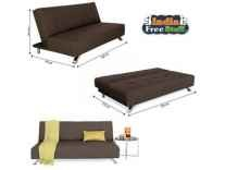 Forzza Laura Three Seater Sofa cum Bed Rs. 9899 - Amazon