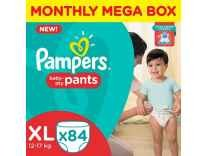 Pampers XL Size Diapers Pants Monthly Pack 84 Pieces at Rs. 1103 @ Amazon
