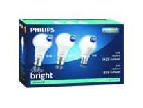 Philips 16 W, 9 W Standard B22 LED Bulb Pack of 3 Rs. 399 - Flipkart