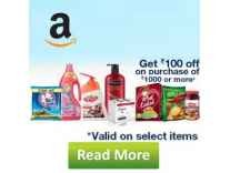 Amazon Pantry upto 70% off + 15% + Rs.100 Cashback on Rs. 1000, 15% + Rs.300 Ca...