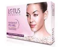 Lotus Radiant Pearl Facial Kit 37g set of 4 Rs. 133 - Flipkart