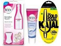 Veet Electric Trimmer+Veet Hair Removal Cream Sensitive Skin 100g + Maybelline Collosal Kajal Trimmer Rs. 1249 - Flipkart