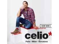 Celio Men's Clothing 70% off + upto 15% off from Rs. 299- Flipkart