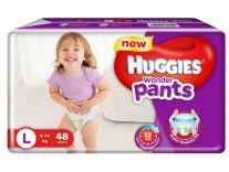 Huggies Wonder Pants Large Size Diapers L 48pc Rs. 419, 96pc Rs. 769 - Flipkart